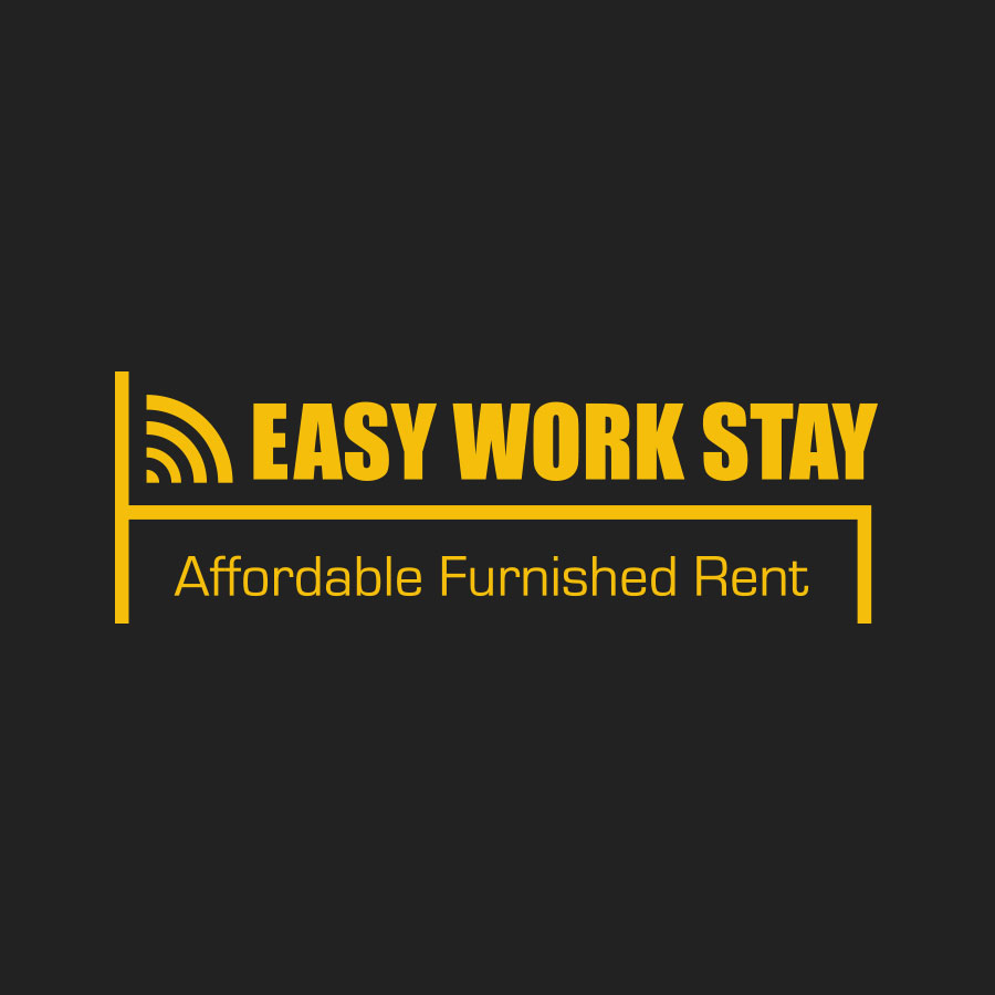 Mioo Design - Easy Work Stay Logo ontwerp - Creatief reclamebureau Roeselare & Communicatiebureau Roeselare - Grafisch ontwerp - Freelancer - West-Vlaanderen - Brugge - Kortrijk
