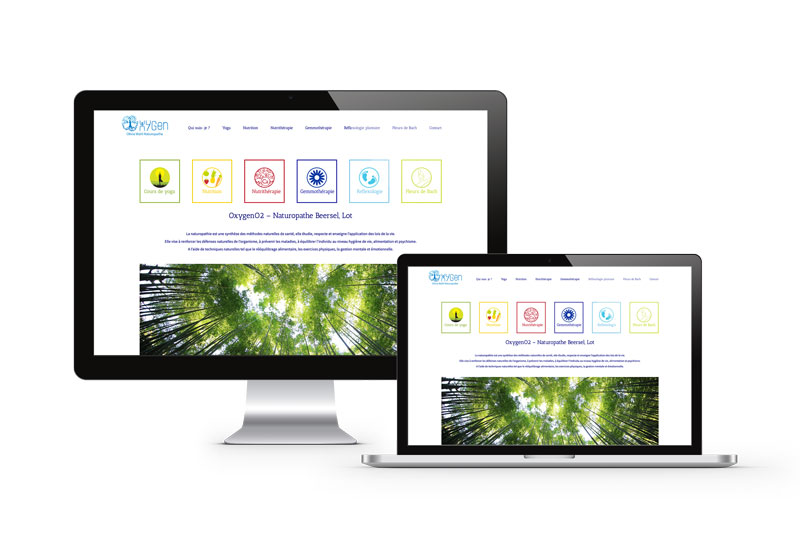 Mioo Design - Oxygen Website ontwerp - Creatief reclamebureau Roeselare & Communicatiebureau Roeselare - Grafisch ontwerp - Freelancer - West-Vlaanderen - Brugge - Kortrijk