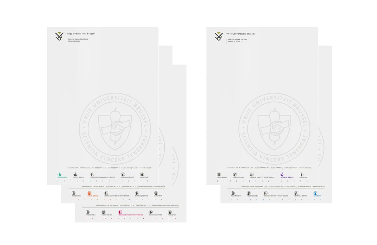 Mioo Design - VUB Briefpapier ontwerp - Creatief reclamebureau Roeselare & Communicatiebureau Roeselare - Grafisch ontwerp - Freelancer - West-Vlaanderen - Brugge - Kortrijk