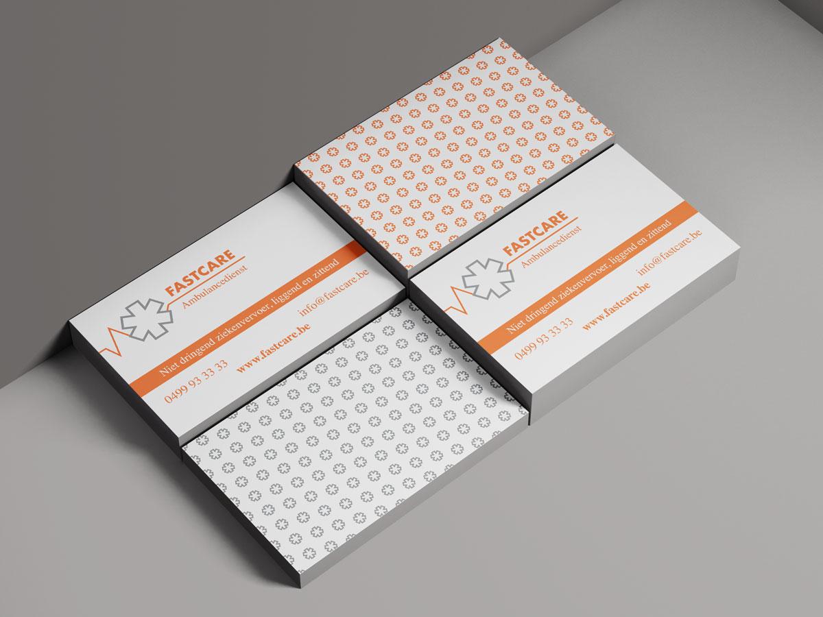 Mioo Design - Fastcare Visitekaartje ontwerp - Brandbook - Creatief reclamebureau Roeselare & Communicatiebureau Roeselare - Grafisch ontwerp - Freelancer - West-Vlaanderen - Brugge - Kortrijk