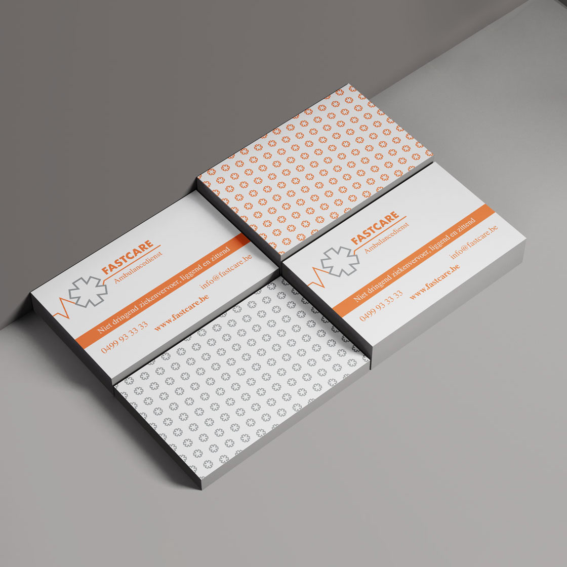 Mioo Design - Fastcare - Visitekaartje ontwerp - Creatief reclamebureau Roeselare & Communicatiebureau Roeselare - Grafisch ontwerp - Freelancer - West-Vlaanderen - Brugge - Kortrijk